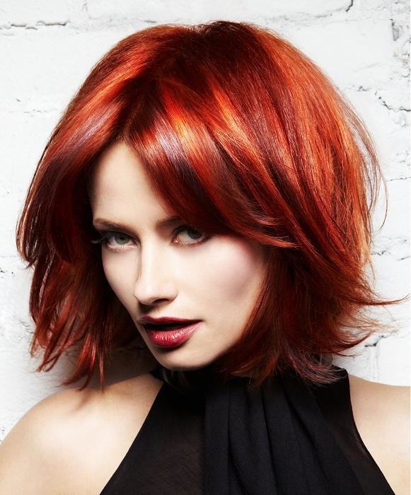 The Best A Medium Red Hairstyle From The L'anza Neoglam Ice Pictures