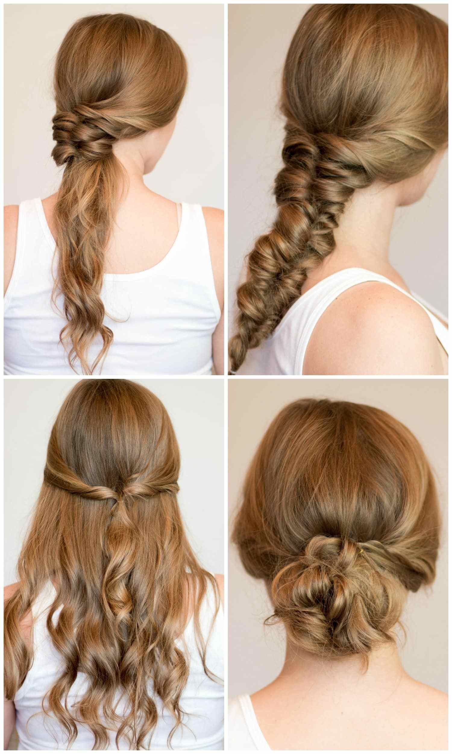 The Best Easy Heatless Hairstyles For Long Hair Ashley Brooke Nicholas Pictures