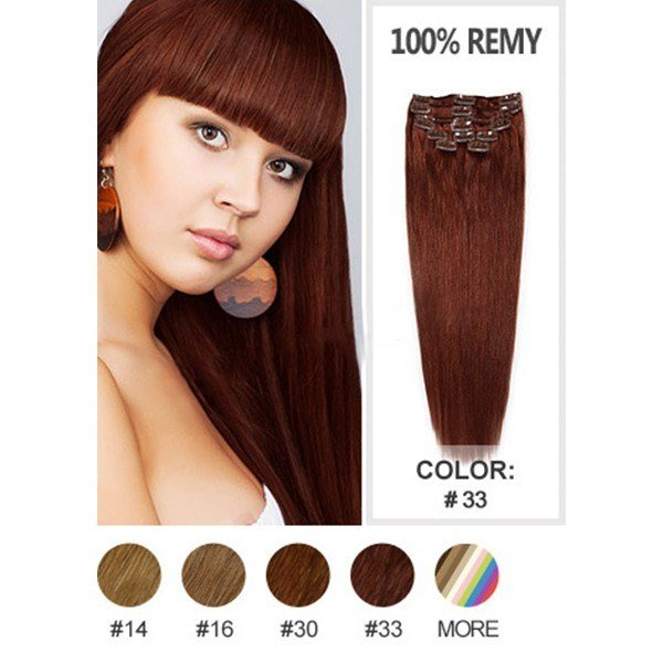 The Best Dark Auburn 33 Color Silky Straight Hair Clip In Hair Pictures