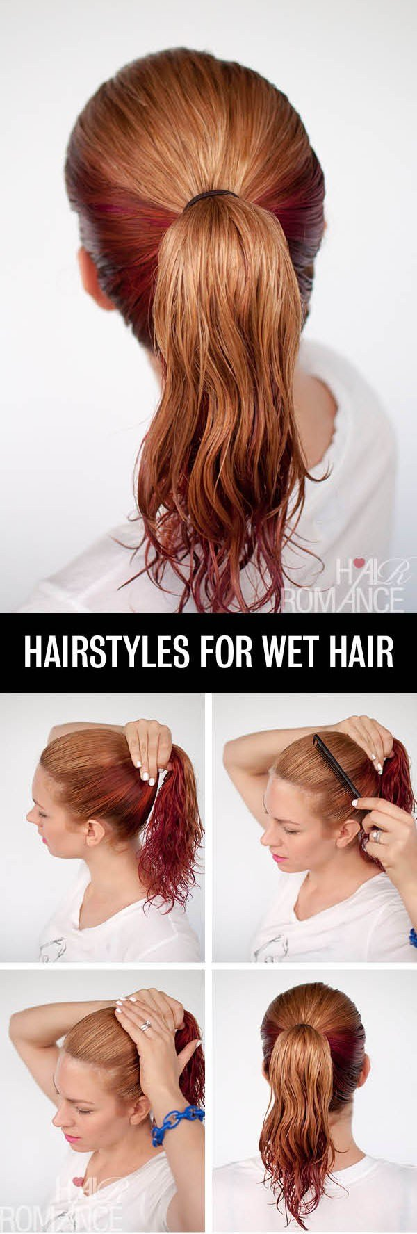 The Best ピンク·オレンジジュース Get Ready Fast With 7 Easy Hairstyle Tutorials For Wet Hair Pictures