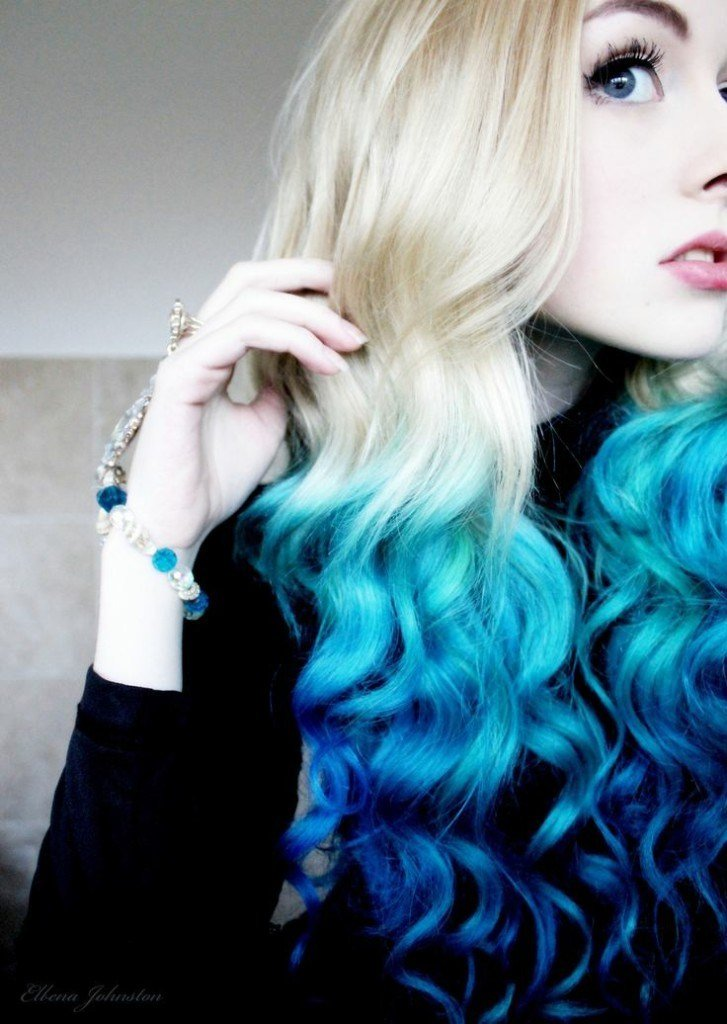 The Best Ultimate Teal Ombre Hair Color Mermaid Hair Color Set Pictures