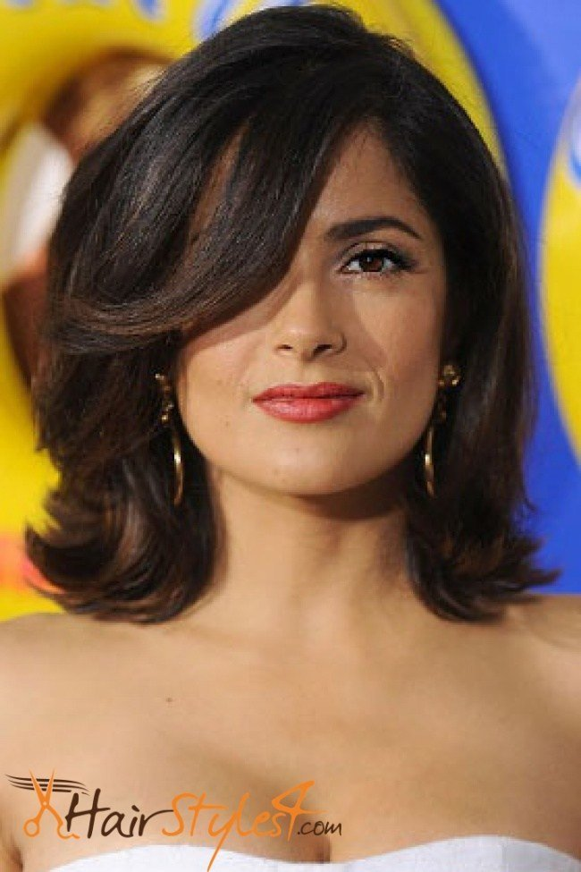 The Best Salma Hayek Bob Hairstyles Hairstyles4 Com Pictures