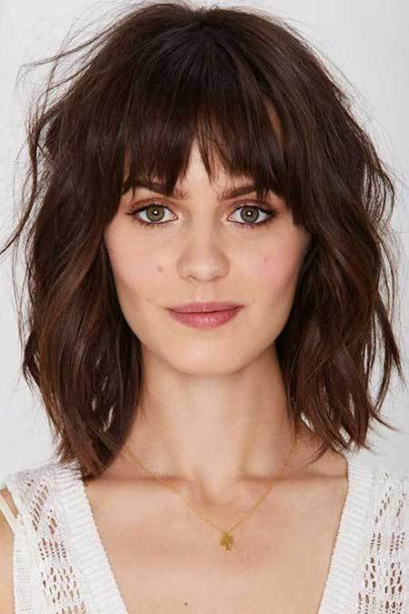 The Best 21 Medium Length Layered Haircuts With Bangs Hairstyles Haircuts 2016 2017 Pictures
