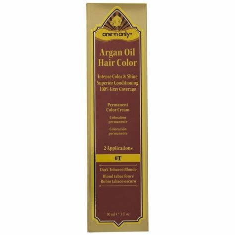 The Best One N Only 6T Dark Tobacco Blonde Argan Oil Permanent Cream Hair Color Pictures