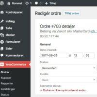 WooCommerce E-conomic Plugin admin order not synced