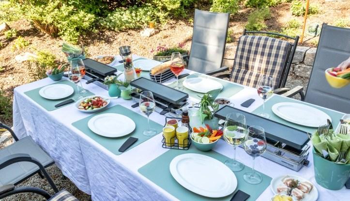 Gedeckter Tisch mit Rommelsbacher Raclette