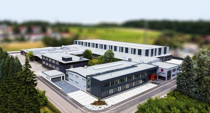 Luftaufnahme Firmensitz ROMMELSBACHER Dinkelsbuehl