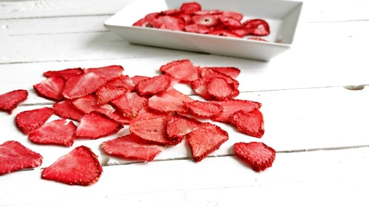 Erdbeer-Chips, gedoerrte Erdbeeren Rommelsbacher
