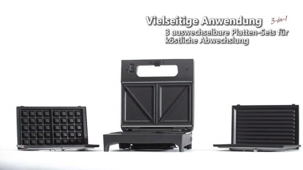 SWG 700 Multi Toast & Grill Rommelsbacher - Multigerät für Waffeln, Sandwichtoast und Kontaktgrillen