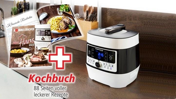 MeinHans Dampfdruck- & Multikocher MD 1000 Rommelsbacher - mit Kochbuch