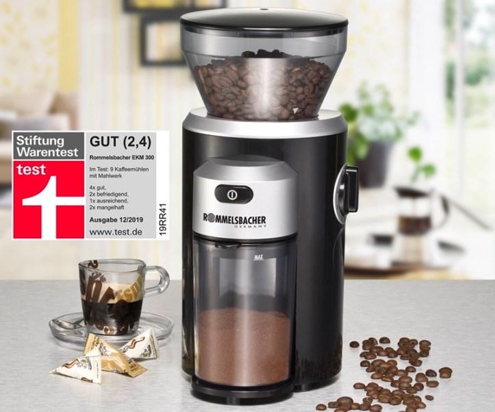 EKM 300 Kaffeemühle Rommelsbacher - GUT Stiftung Warentest 12/2019