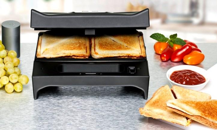 SWG 700 Multi Toast & Grill von Rommelsbacher - 3-in1 Gerät für Sandwich, Waffel, Gegrilltes / Sandwich für den Picknickkorb