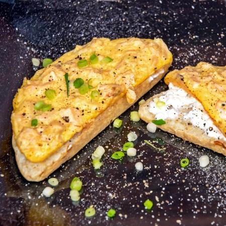 2-Schicht-Omelett - Mamas Lachs-Ei-Brot - Rezept rommelsbacher