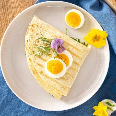 Tortilla Wrap gegrillt mit Ei