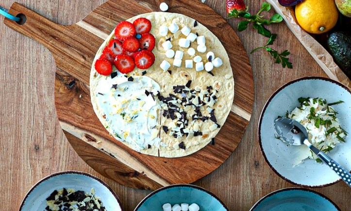 Süßer Wrap - Rezept-Bild aus: 5 x gegrillte Tortilla Wraps (Der Wrap-Hack)