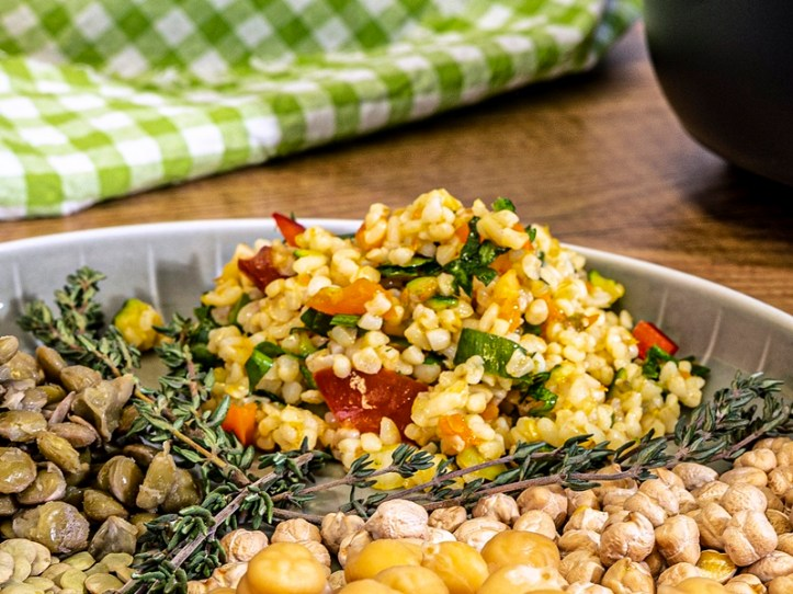 Rezept: Bulgursalat aus dem Rommelsbacher Reiskocher