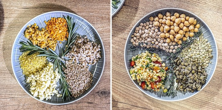 Hülsenfrüchte im Reiskocher zubereiten - vorher und nachher - Linsen, Dinkel, Bulgur, Kichererbsen - by ROMMELSBACHER