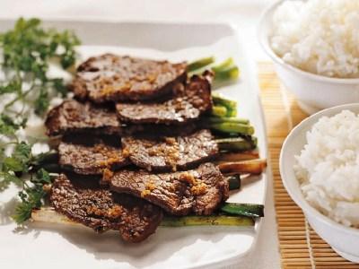 Rindfleisch tepanyaki - Nr 2 von  5 asiatische Grillrezepte - Grillen im Asia Style