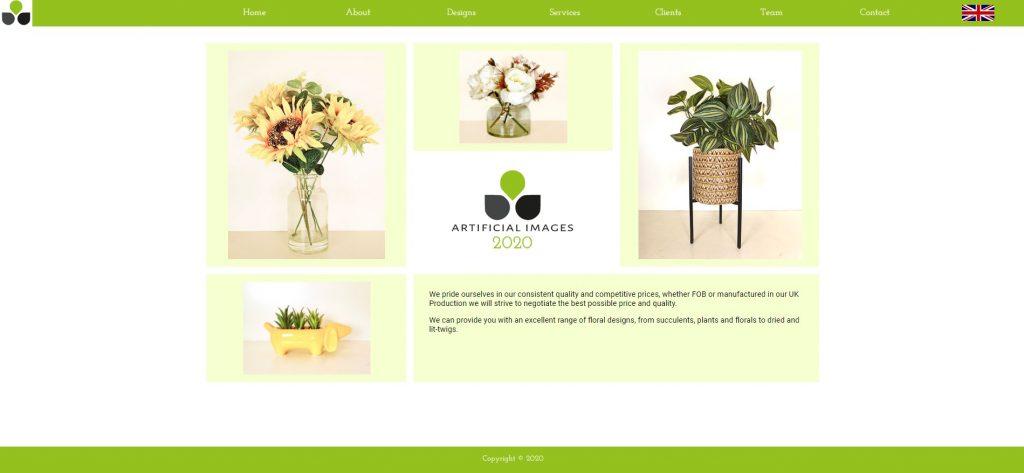 Artificial Images website