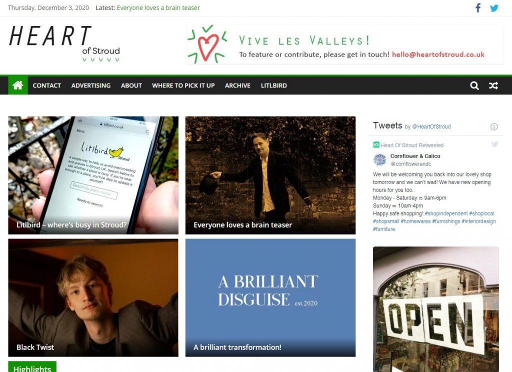 Heart of Stroud website