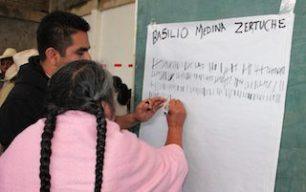 Foto: Elección de autoridades en el Municipio de San Miguel Santa Flor. (DSNI- IEEPCO) COMSOC 2014