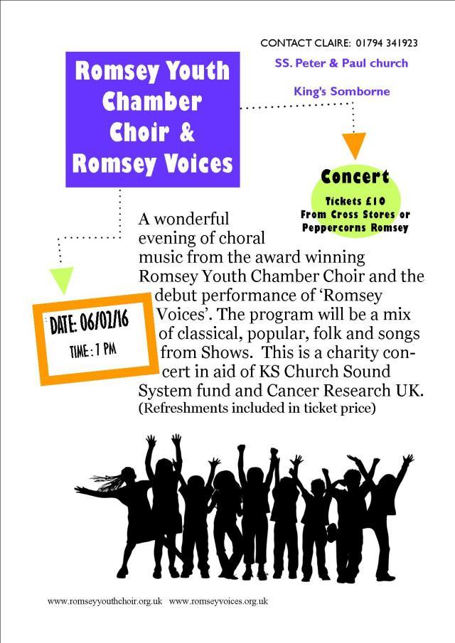 Romsey Choirs concert Feb 2016