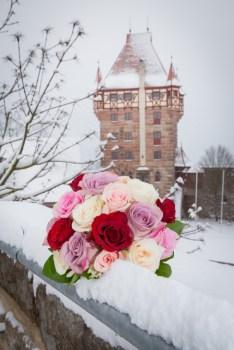 Burg Abenberg Hochzeit winter