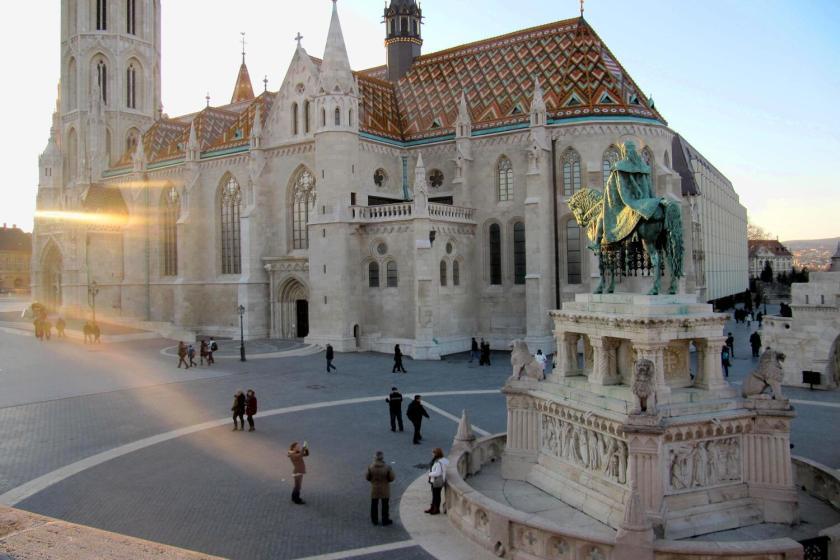Matthiaskerk in het Burchtdistrict in Boedapest