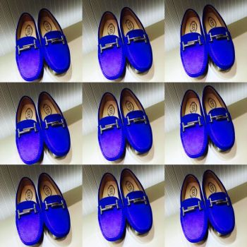 Vegas Tod's Blue Suede