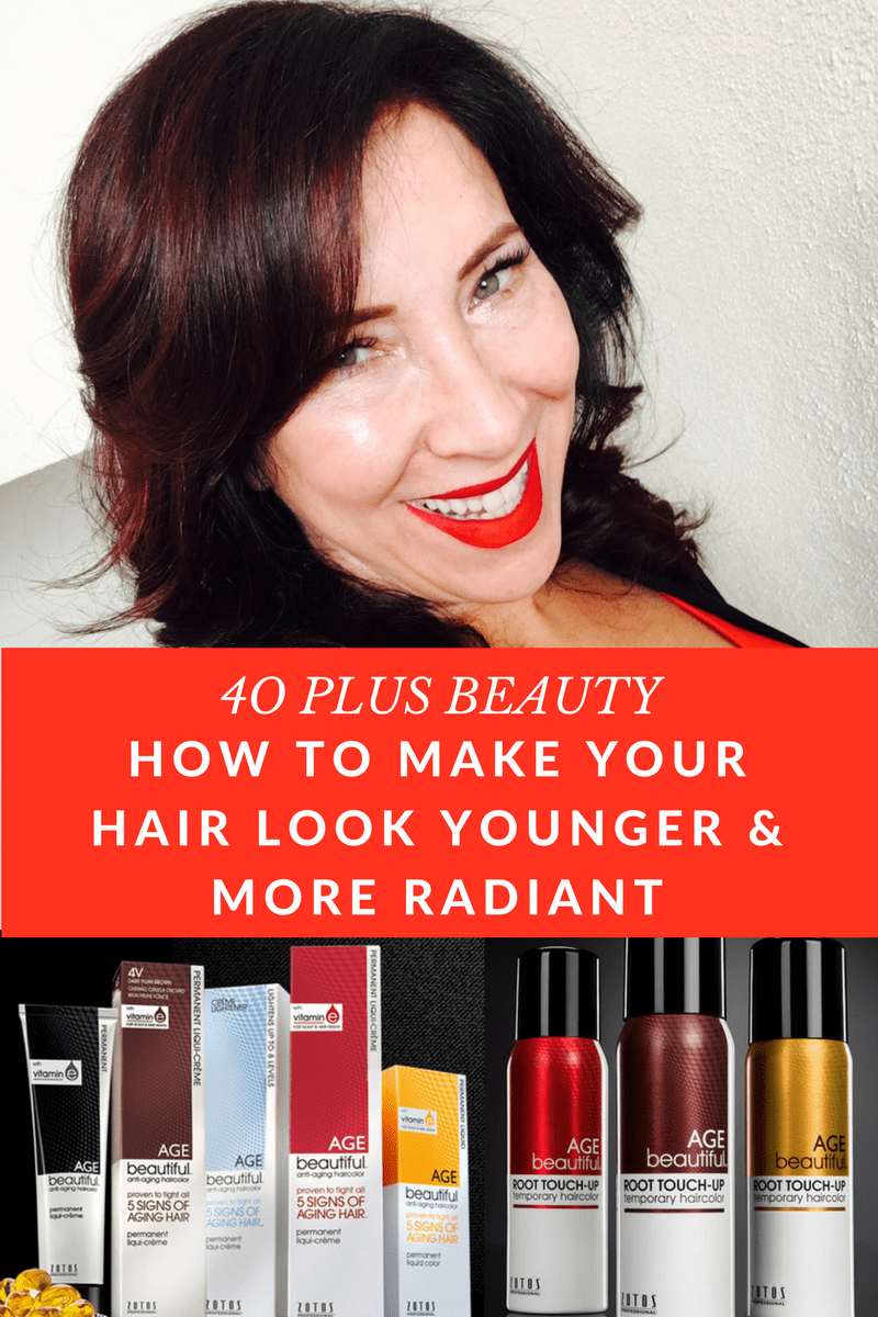 Have you noticed that as you get older, your hair is changing? It's duller, drier & more gray. I've found some anti-aging hair products that can make your hair look younger & more radiant