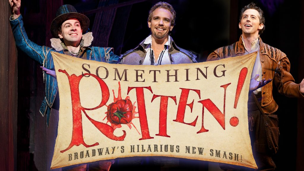 If you would like to laugh out loud and be thoroughly entertained this holiday season, you must go see Something Rotten! at the Ahmanson Theatre in DTLA