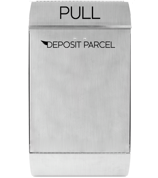 stainless mailbox front deposit parcel