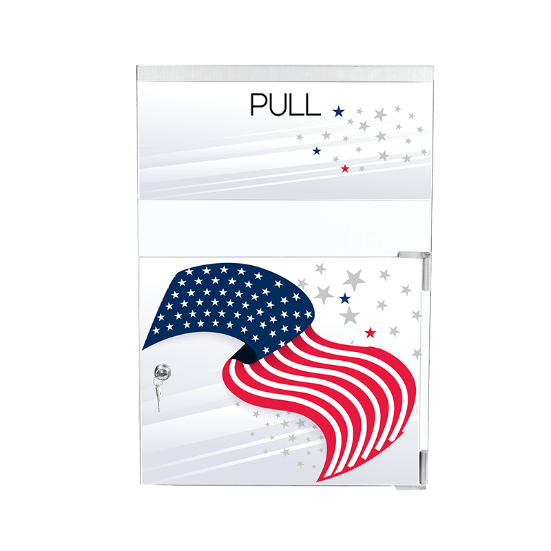 Parcel box with american flag-2