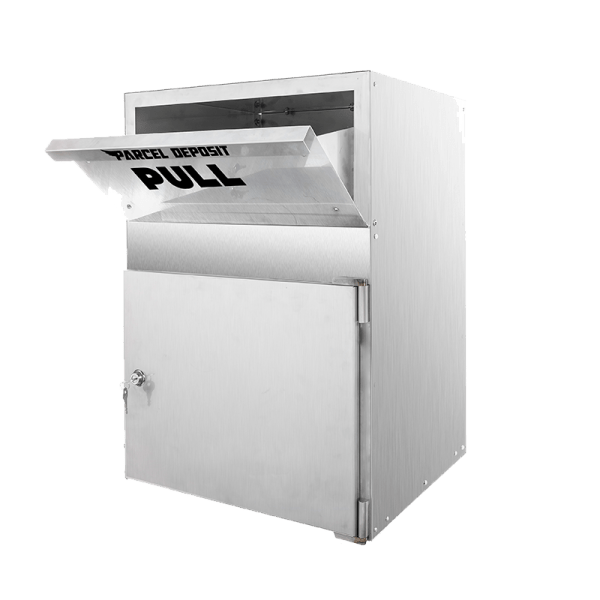 stainless Parcel box dropbox open