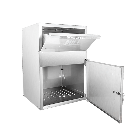 Stainless parcel box side open