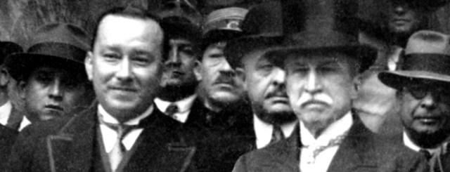 Don Guillermo Ronald con el Presidente Augusto B. Leguía
