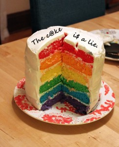 Rainbow cake by ElizabethWilk