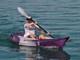Jamie in the kayak