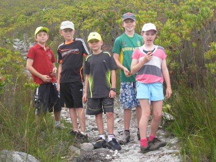 Five keen walkers