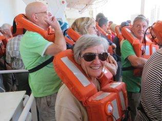 Renee at boat drill