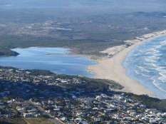 Grotto beach and the lagoon