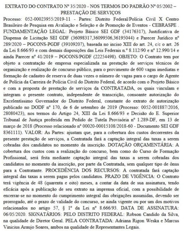 CONCURSO: PCDF publica contrato com banca e 1.800 vagas são distribuídas