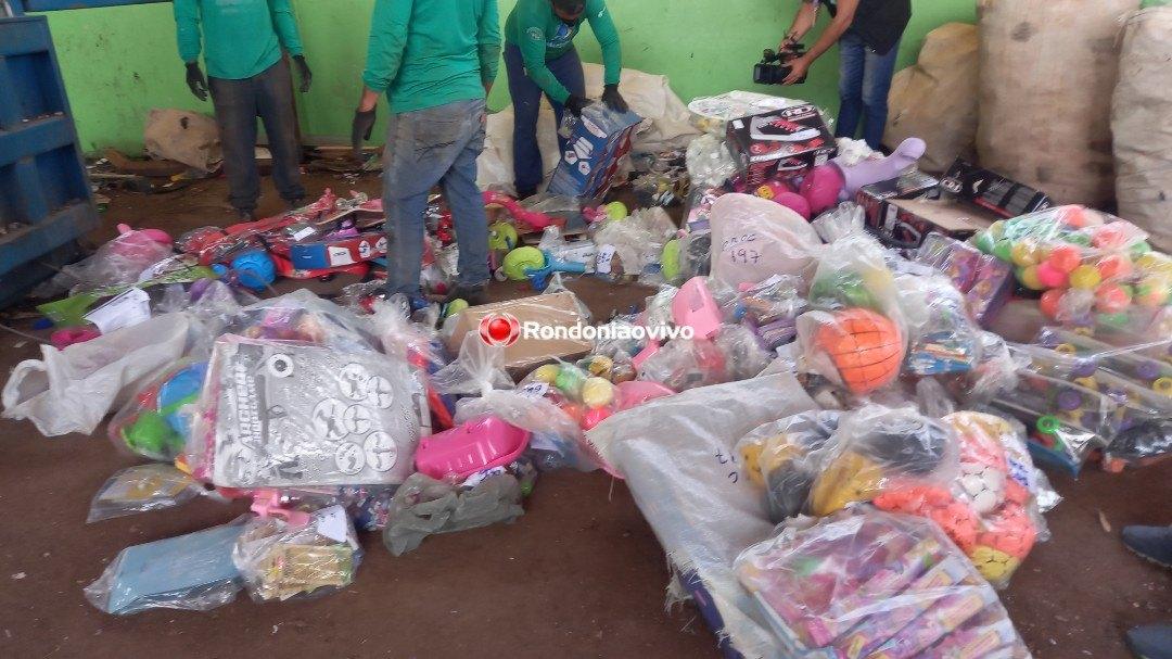 NA CAPITAL: Ipem destrói brinquedos apreendidos durante fiscalizações em comércios