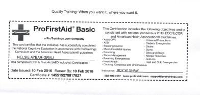 5 First Aid CPR AED through Feb 2018