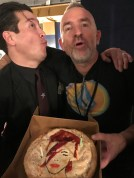 Ron Dziubla (the 26th) and Paul Bushnell (the 25th) celebrating their birthday at the Wiltern.