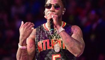 Gucci Mane Halftime Performance - Hawks v Pelicans