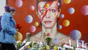 Britain commemorates Rock legend David Bowie in London