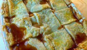 7-Up Bourbon Peach Cobbler
