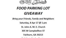 Food Parking Lot Giveaway April 2017