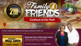 Family And Friends Cookout At The Park